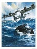 As Flying Officer G O Singleton Gunned the Engine of the Short Sunderland He Saw a Drifting Mine
