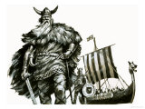 Viking and Longship
