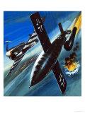 Unidentified British Aircraft Attacking a German V1 Rocket