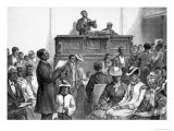 American Sketches: A Negro Congregation at Washington  The Illustrated London News  1876