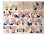 The Art of Talking with the Fingers'  Sign Language Alphabet