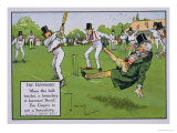 The Boundary  Illustration from Laws of Cricket  Published 1910