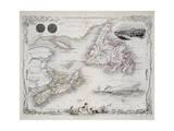 Nova Scotia and Newfoundland  Series of World Maps  c1850