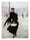 Parisian Woman in the Place de La Concorde  c1890