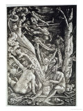 Witches at the Sabbath  Hans Baldung Grien  a History of Magic Published Late 19th Century