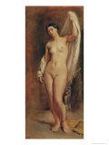 Standing Female Nude  Study For the Central Figure of The Tepidarium  1853