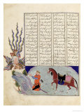 Simurgh Offers Zal  the Father of Roustem  to Sam  the Grandfather of Roustem  from the 'shahnama