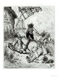 Don Quixote and the Windmills  from Don Quixote de La Mancha by Miguel Cervantes