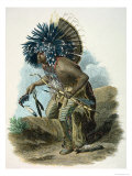 Medicine Man of the Mandan Tribe in the Costume of the Dog Dance  1834