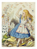 The Shower of Cards  Illustration from Alice in Wonderland by Lewis Carroll