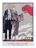 Leaving For the Casino Illustration For La Gazette du Bon Ton  1923