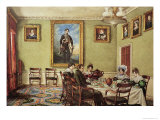 Dining Room at Langton Hall  Family at Breakfast  c1832-3