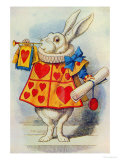 The White Rabbit  Illustration from Alice in Wonderland by Lewis Carroll