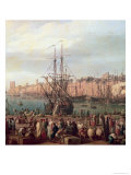 Morning View of the Inner Port of Marseille and the Pavilion of the Horloge du Parc  1754
