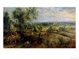 Autumn Landscape with a View of Het Steen in the Early Morning  c1636