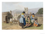 Wensleydale Knitters  from Costume of Yorkshire Engraved by Robert Havell