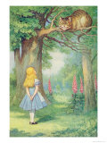 Alice and the Cheshire Cat  Illustration from Alice in Wonderland by Lewis Carroll