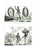 Head Baskets and a Poultry Seller  from Voyage Pittoresque et Historique Au Bresil