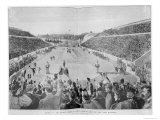 Revival of the Olympic Games in Athens: Loues Winning the Race from Marathon  10th April 1896