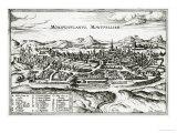 Map of Montpellier  from Civitates Orbis Terrarum by Georg Braun