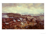 Cuirassiers Charging the Highlanders at the Battle of Waterloo on 18th June 1815  1874