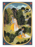 Radha and Krishna Walking in a Grove  Kangra  Himachal Pradesh  1820-25