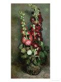 Vase of Hollyhocks  1886
