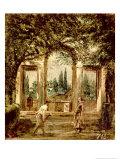The Gardens of the Villa Medici in Rome  c1650-51