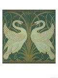 Wallpaper Design For Panel of Swan  Rush and Iris