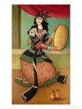 Dancing Girl with a Tambourine  Qajar School