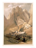 Convent of St Catherine with Mount Horeb  1839  Plate 118  VolIII The Holy Land  Engraved Haghe