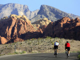 Two Cyclists  Red Rock Canyon National Conservation Area  Nevada  May 6  2006