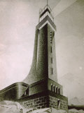 Drawing by the Architect Quirino De Giorgio of a Project for a Stone Lighthouse