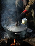 A Man  24  from Ghana  Prepares His Meal