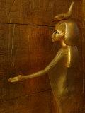 Goddess Selket  Tutankhamun Gold Canopic Shrine  Valley of the Kings  Egyptian Museum  Cairo  Egypt