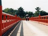 Kimono on the Bridge  Kyoto  Japan