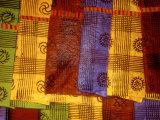 Detail of Adinkra Cloth  Market  Sampa  Brongo-Ahafo Region  Ghana