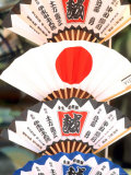 Colorful Artwork on Fans  Kyoto  Japan