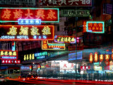Neon Lights in Jordan and Mong Kok District  Hong Kong  China