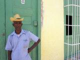 Portrait of Man  Old Colonial Village  Trinidad  Cuba