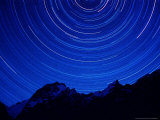 Star Swirls over Masherbrum  Hushe Peaks Area of Karakoram Himalaya  Pakistan