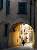 Person and Archway  Panzano  Chianti Region  Tuscany  Italy
