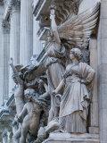 Statue Detail of the Opera Garnier  Opera  Paris  France