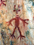 Ancient Sacred Mayan Paintings at Metzabok  Selva Lacandona  Metzabok  Chiapas  Mexico