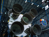 The Saturn V Rockets at the Apollo  John F Kennedy Space Center  Cape Canaveral  Florida  USA