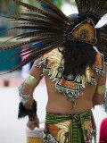 Aztec Indian Dancer  El Pueblo de Los Angeles  Los Angeles  California  USA