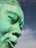 Bust of Jazz Great Charlie Yardbird Parker  Historic Jazz District  Kansas City  Missouri  USA