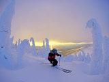 Skier in Snowghosts at Big Mountain Resort in Whitefish  Montana  USA
