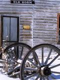 Wagon Wheels at Elkhorn Ghost Town  Montana  USA