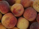 A Pile of Many Fresh Rip Peaches